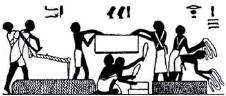 Nástenná maľba z hrobu v hornom Egypte