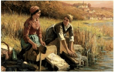 Pranie na brehoch potokov a riek